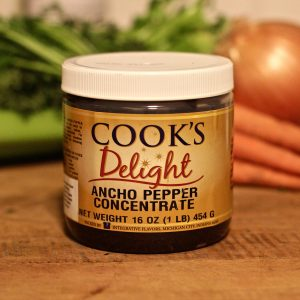 Cook's Delight Ancho Pepper Flavor Concentrate 1 lb jar