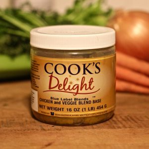 Cook's Delight Blue Label Blend Chicken & Veggie Soup Base 1 lb jar