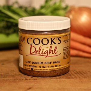 Cook's Delight Low Sodium Beef Soup Base 1 lb jar
