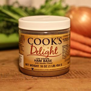 Cook's Delight Low Sodium Ham Soup Base 1 lb jar