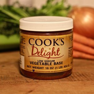 Cook's Delight Low Sodium Vegetable Soup Base 1 lb jar