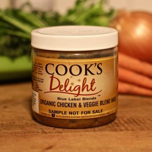 Blue Label Blend by Cook's Delight Organic Chicken & Veggie Soup Base 1 lb jar