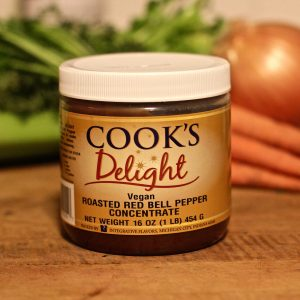 Cook's Delight Roasted Red Bell Pepper Flavor Concentrate 1 lb jar