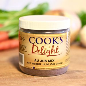 Cook's Delight® Au Jus Soup Base Mix - Gluten Free Foodservice or Industrial 12 oz jar