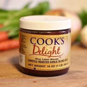 Cook's Delight Vegan Chipotle Roasted Garlic Soup Base Blue Label Blend - Gluten Free Foodservice or Industrial