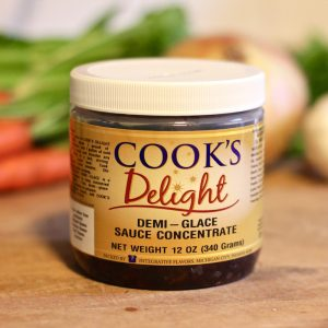 Cook's Delight® Demi-Glace Sauce Concentrate - Gluten Free Foodservice or Industrial 12 oz jar