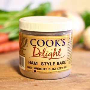 Cook's Delight Ham Style Soup Base - Granular Gluten Free Vegetarian Foodservice or Industrial jar