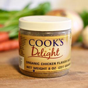 Cook's Delight Organic Chicken Flavor Granular Soup Base - Gluten Free Clean Label Foodservice or Industrial 1 lb jar