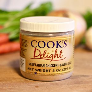 Cook's Delight Vegetarian Chicken Flavor Soup Base - Gluten Free and Vegan Foodservice or Industrial applications